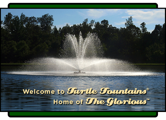 Turtle Floating Fountains Mega Series Glorious Lake Fountain
